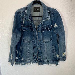 NWOT Blank NYC Super Distressed Denim Jacket